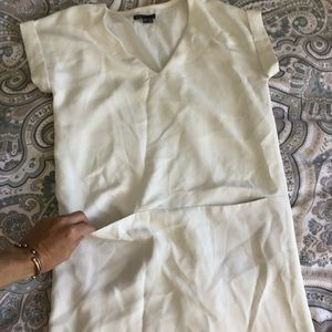 Vince white classic dress
